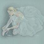 Blue Ballerina by Karen  Securius
