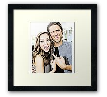 Aaron Tveit and Laura Osnes Framed Print