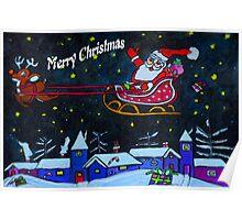 Santas Rides Tonight Poster