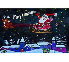Santas Rides Tonight Photographic Print