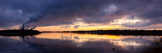 Oulu sunset by Dominika Aniola