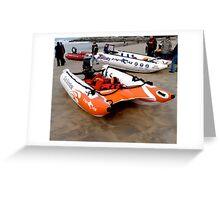 Racing boat Greeting Card