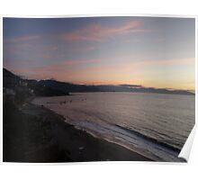 Beach of Puerto Vallarta after sunset Poster