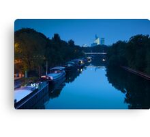 Houseboats on the Seine in Paris Canvas Print