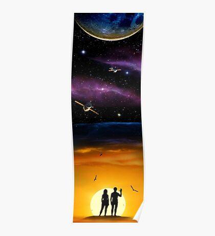 Cosmic Birds Poster