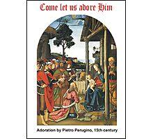 Pietro Perugino's Adoration Photographic Print