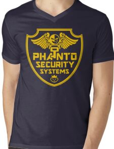 PHANTO SECURITY SYSTEMS Mens V-Neck T-Shirt