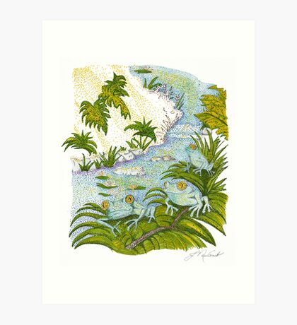 Frogs in the Daytime Art Print