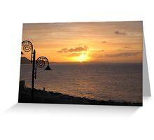 Lyme Regis Dawn Greeting Card