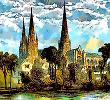 Beautiful Britain - Lichfield Cathedral, Staffordshire by Dennis Melling