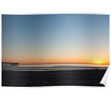 Sunset on th beach Poster