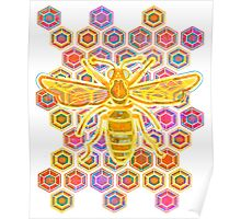 Jewel Tone Bee Poster
