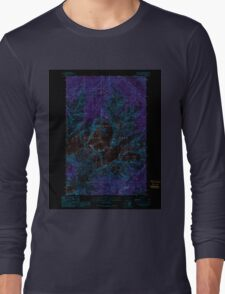 USGS Topo Map Washington State WA Mount Olympus 242521 1990 24000 Inverted Long Sleeve T-Shirt