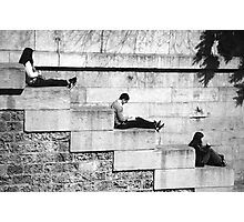 Chilling Out On The Banks Of The Seine Photographic Print