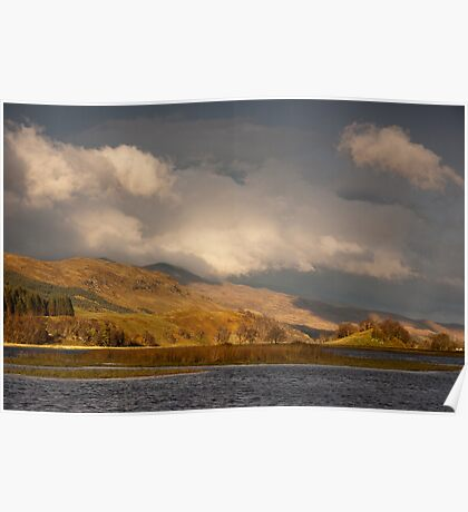 Late light on Loch Lubhair Poster