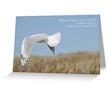 About to Fly Greeting Card