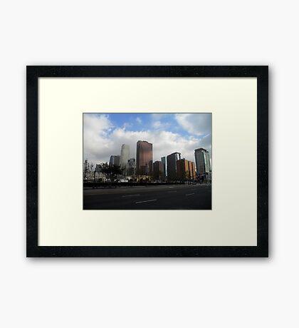 Downtown. Framed Print