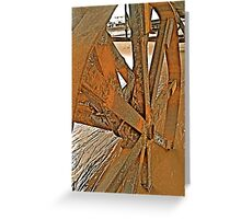 Rusty wheels Greeting Card
