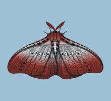 Maroon Moth Baby Tee
