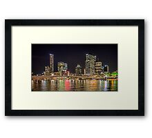 Brisbane CBD from South Bank Framed Print