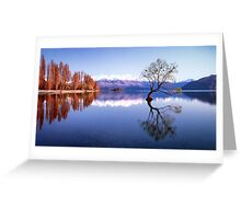 Sunrise at that Wanaka Tree Greeting Card