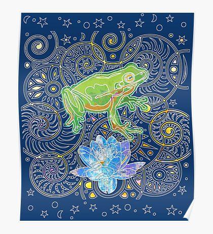 Zen Frog Poster