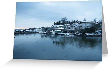 Aberdour Harbour in Winter by Steve Hammond