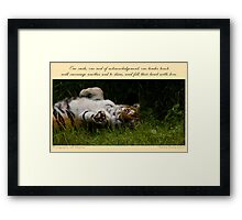 ~ Tender Touch ~ a collaboration with Jeff Weymier Framed Print