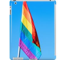 Gay rainbow flag with a blue sky background  iPad Case/Skin