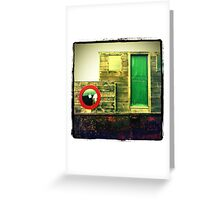 Green Door, Red Porthole... Greeting Card