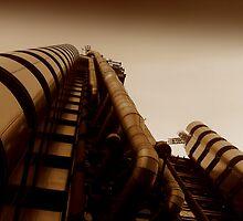 Lloyds from below, Gresham Street London by Chris Millar