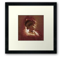 Little Lady in a Pink Hat Framed Print