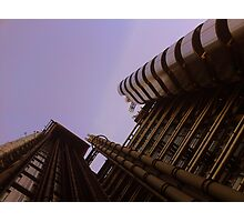 Lloyds London HQ from below Photographic Print
