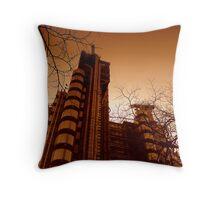 Lloyds London in Winter Throw Pillow