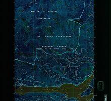 USGS Topo Map Washington State WA Rimrock Lake 243462 1992 24000 Inverted by wetdryvac