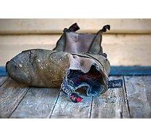 Red Back Boots Photographic Print