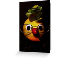 Laughter + fruit + vegetables = health Greeting Card