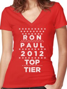 Ron Paul 2012 - Top Tier  Women's Fitted V-Neck T-Shirt