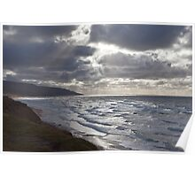 Storm Light Inverness Beach NS Poster