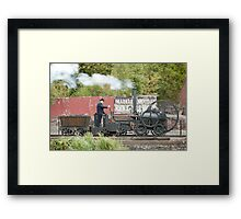 Replica of Richard Trevithick's Colebrookdale locomotive Framed Print