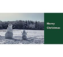 Snowmen Christmas Card Photographic Print