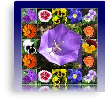 Summers Gone By Floral Collage Canvas Print