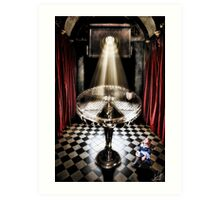 The Alice Series: A Glass Table Art Print