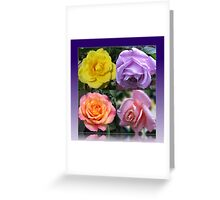 Four Roses Collage Greeting Card
