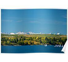 Heritage Park, Calgary, Alberta on the Glenmore Reservoir Poster