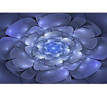 3D Blossoms - Sapphire Photographic Print