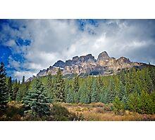 Castle Mountain, Alberta Photographic Print