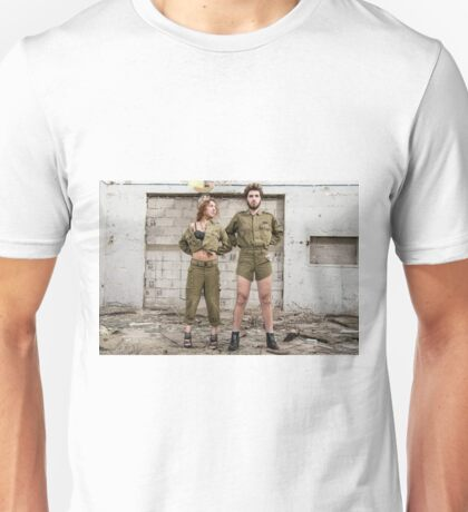 Models in Israeli Army uniform is a deserted location  Unisex T-Shirt