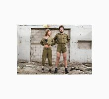Models in Israeli Army uniform is a deserted location  T-Shirt