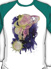 Saturn Takes a vacation full T-Shirt